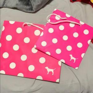 Medium and small pink bag